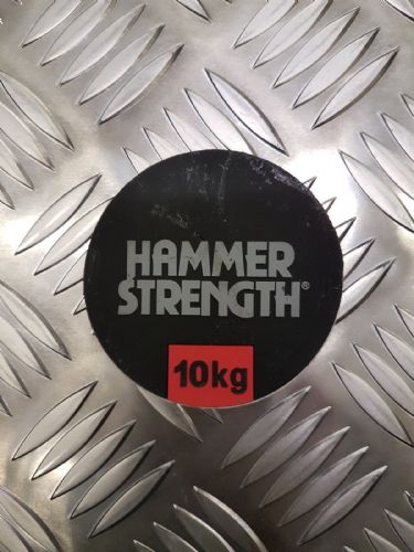 Hammer Strength Bar Bell Weight Stickers, Numbers 10kg to 45kg